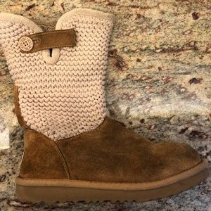 UGG boots - Girls 4 - Suede Cardi fold-over